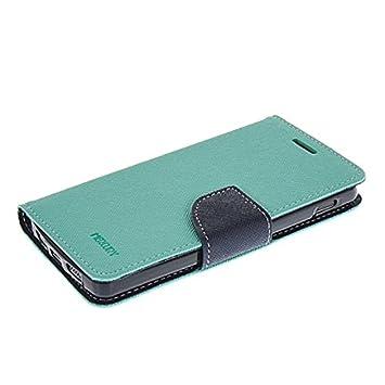 LG Nexus 5 Fundas,COOLKE [menta] Dos Colores Funda Carcasa Cuero Tapa Case Cover Para Google LG Nexus 5