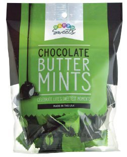 Party Sweets Dark Chocolate Buttermints by Hospitality Mints, Appx 230 mints, 4.7-Ounce Bags (Pack of -
