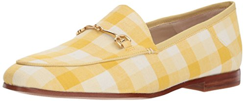 Sam Edelman Women's Loraine Loafer, Yellow/Multi Gingham, 7.5 M US]()