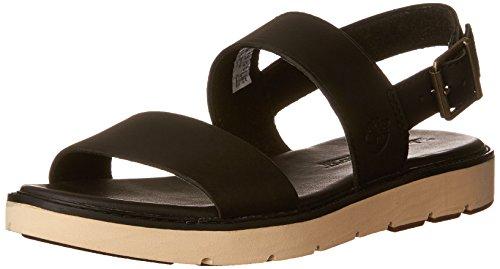 (Timberland Women's Bailey Park Slingback Platform Sandal, Black Swank, 6 M US)