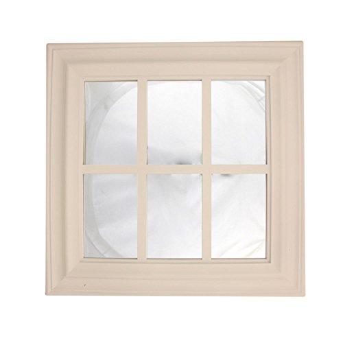"17.25"" Pure White Window Inspired Decorative Wall Mounted Mi"