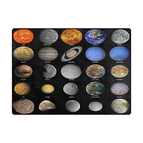 (Area Rug Carpet Fantasy Planet Solar System Galaxy Ultra Soft Non-Slip Runner Mat 3'x5', Indoor Outdoor Sponge Rugs Decor for Living Room Bedroom Kitchen )