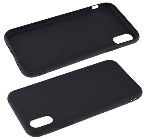 Trendcell TPU Silicon Hülle für iPhone X Case Tasche Schutzhülle Silikon Cover in schwarz