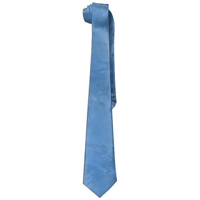 Vilico Corbatas de seda para hombre, color azul claro: Amazon.es ...