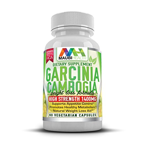 Garcinia Cambogia Extract Complex Contains 95% HCA 1400mg 60 Vegetarian Capsules High Strength Maximum Potency Pharmaceutical Grade Natural Weight Loss And Diet Pills By Maubi Health