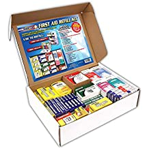 Rapid Care First Aid 91003 Refill Kit for 4 Shelf First Aid Cabinet, 1,033 Pieces, For Over 150 People