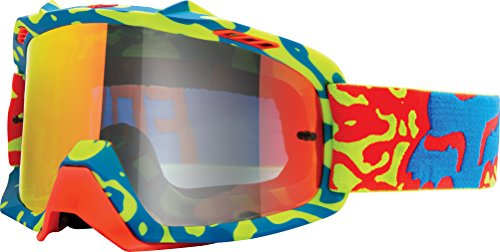 - Fox Racing Air Space Cauz Youth Moto Motorcycle Goggles Eyewear - Yellow-Red/Red Spark/No Size