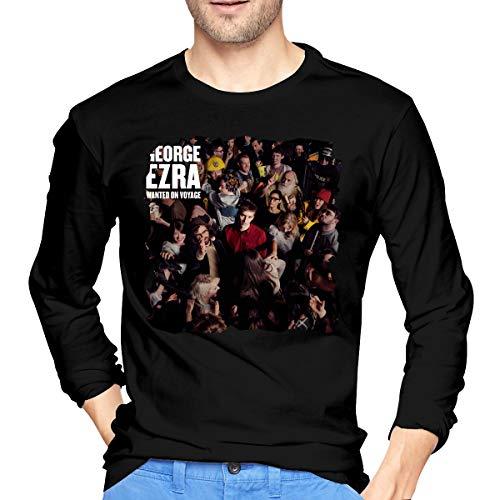 LilianR George Ezra Wanted On Voyage Mens Long Sleeve T-Shirt Black L