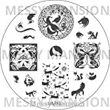 MESSY MANSION MM34 Nail Art Stamping Plate - Fox and Hounds