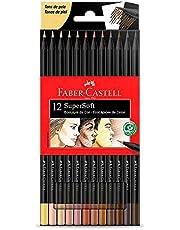 Lápis de Cor Supersoft 12 Tons de Pele Faber Castell