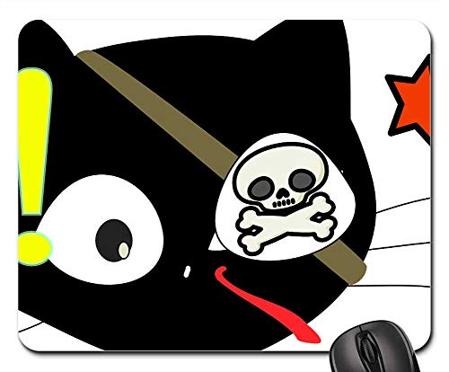 Mouse Pads - Cat Pirate Costume Halloween Cartoon Black Cute