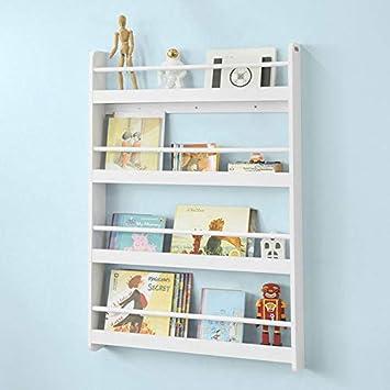 Librería de pared de madera blanca genérica para niños ...