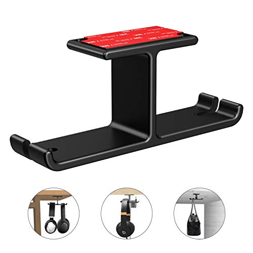 - Headphone Hanger Aluminum Headset Holder, Link Dream Gaming Headset Headphone Hook Holder Hanger Mount Under Desk with Cable Organizer for All Headphones