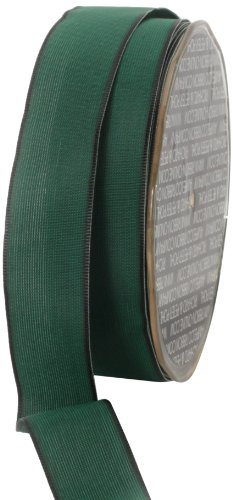 Ampelco Ribbon Company French Wired 27-Yard Taffeta Ribbon, 1-Inch, Hunter Green