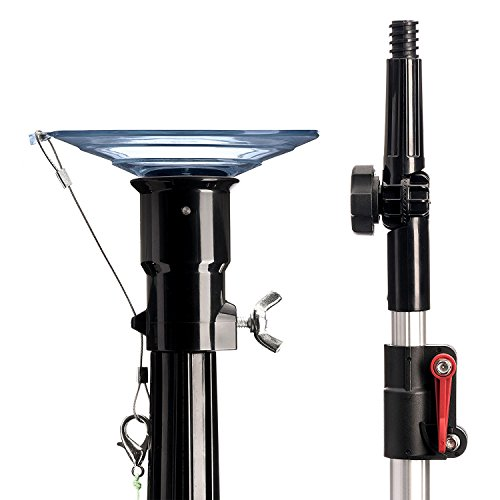STAUBER Best Bulb Changer with Pole - Includes the STAUBER Quick-Lock Light Bulb Changer Extension Pole - Extends from 5 to 12 Feet - (XL Suction, 12 Feet)