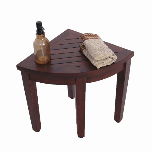 Oasis Bathroom Teak Corner Shower Seat Stool Chair Bench Sitting Storage Or Foot Rest Buy