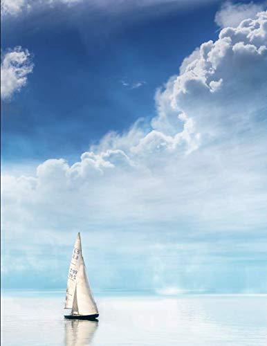 Notebook: Sailing boat sea cloud sky water ship