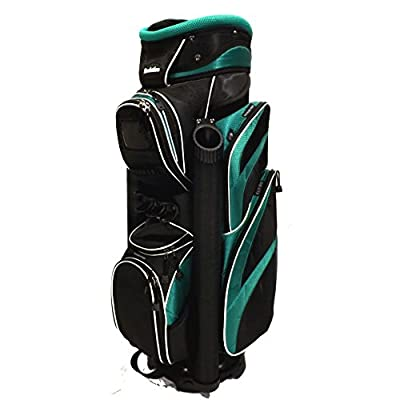 The Ultimate Deluxe Golf Cart Bag w/ 14 Way Divider Green / Black Retail $249.99