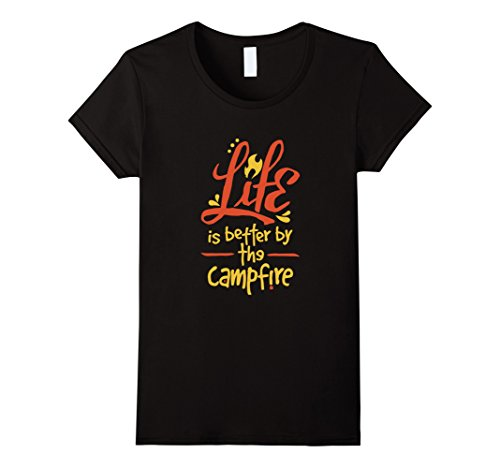 Women's Life Is Better By The Campfire Bonfire Camping T-...