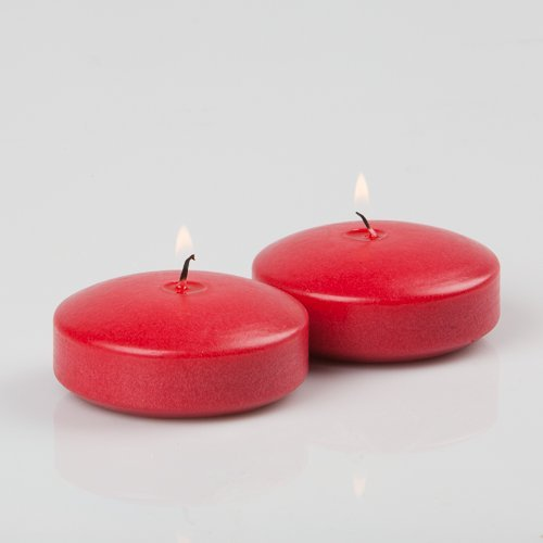 96 Red Richland Floating Candles 3''