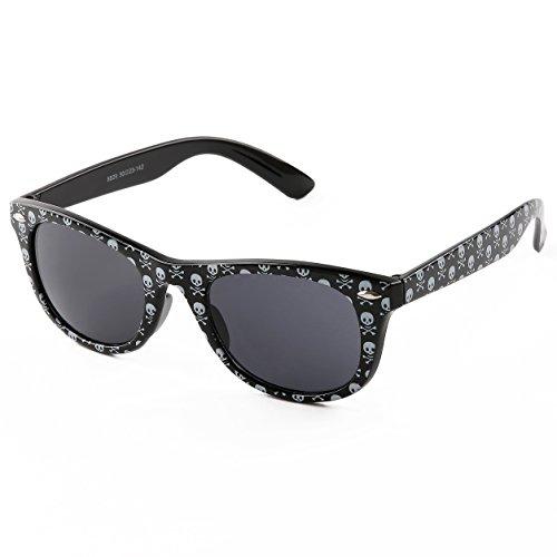 Women's Fashion Skull Print Plastic Frame Sunglasses Unbreakable Frame - Skull Sunglasses