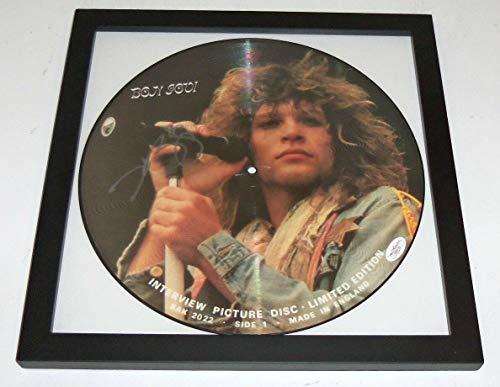 (Memorabilia JSA Jon Bon Jovi Autographed Signed Framed Picture Disc Album Blaze Of)