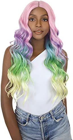 One Size 1 Piece Acrylic Claire/'s Mermaid Wig Purple and Blue