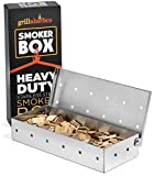 Cheap Grillaholics Smoker Box, Top Meat Smokers Box in Barbecue Grilling Accessories, Add Smokey BBQ Flavor on Gas Grill or Charcoal Grills with This Stainless Steel Wood Chip Smoker Box