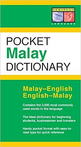 Pocket Malay Dictionary English Periplus Dictionaries Zuraidah Omar 9780794600570 Amazon Books