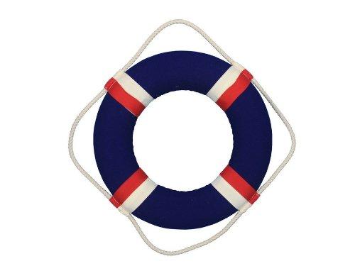 Hampton Nautical Decoración náutica hecha a mano con labio patriótico decorativo, Classic, azul (bluejacket), 15 pulgadas,...