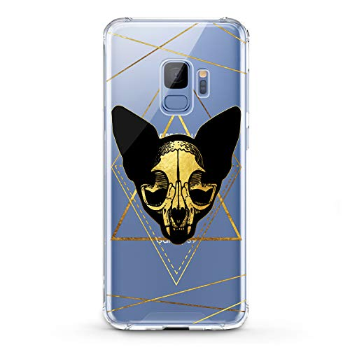 Lex Altern TPU Case for Samsung Galaxy A9 A8s A8 A7 A6s A5 A70 A50 Boho Cat Skull Design Flexible Witchcraft Clear Cover Yellow Print Felines Lightweight Smooth Slim fit Lines Soft Geometric Gift]()