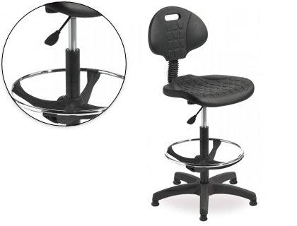 Sgabello con schienale rocada regolabile in altezza con sedile e