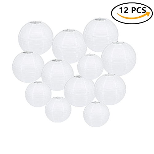 Beelittle-12-Pack-81012-White-Round-Chinese-Paper-Lanterns-Assorted-Size-for-Christmas-Birthday-Party-Wedding-Decorations