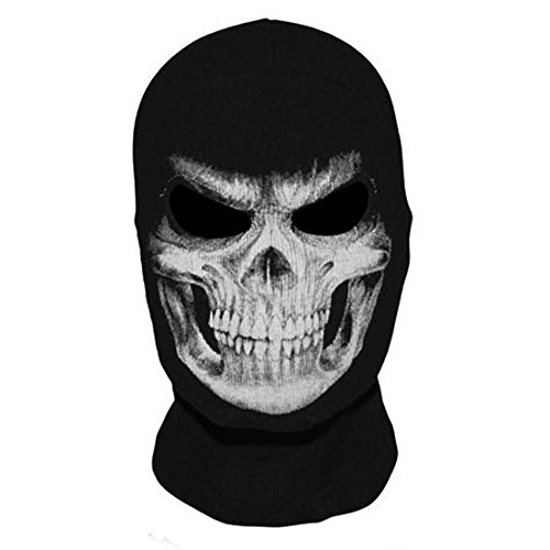 MW2 Ghost Mask Full Call-of-Duty Face Cover Mask Ghosts Punisher Balaclava Skeleton Mask Bandana Skull COD Dustproof Breathable Tactical Hoods Costume Headwear for CS Cycling Skiing Hunting ()