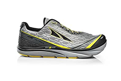 Altra Men's Torin IQ Running Shoe, Gray/Yellow, 7 M US