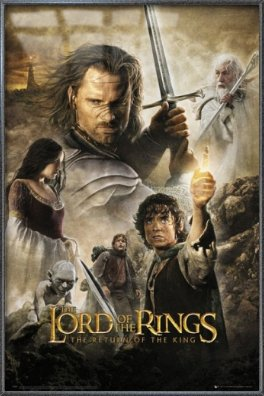 """POSTER STOP ONLINE The Lord of The Rings - The Return of The King - Framed Movie Poster/Print (Regular Style) (Size: 24"""" x 36"""")"""