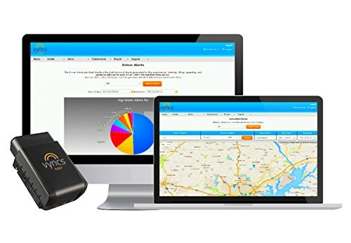 VyncsFleet: GPS Tracker No Monthly Fee, OBD, Real Time 3G Fleet Tracking, 1 Year Data Plan Included, Trips, Vehicle Diagnostics, Driver Safety Alerts, Fuel Report, Emission Report
