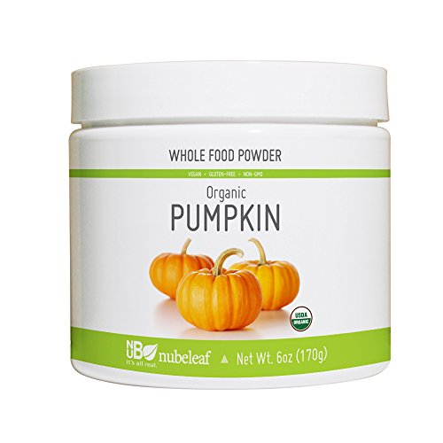 Nubeleaf Pumpkin Powder - Non-GMO, Gluten-Free, Raw, Organic, Vegan Source of Fiber, Essential Vitamins & Minerals - Single-Ingredient Nutrient Rich Superfood for Cooking, Baking, Smoothies