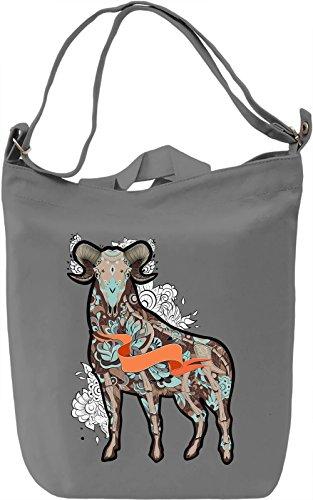 Ram bones Borsa Giornaliera Canvas Canvas Day Bag  100% Premium Cotton Canvas  DTG Printing 