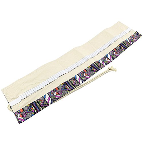 ULTNICE Canvas Roll up Colored Pencils Wrap 72 Pencils Holder for Gen Pens Pencils by ULTNICE