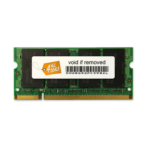 (4AllDeals 2GB Memory RAM for Compaq Presario CQ Series CQ40, CQ60-210US, CQ60-214DX, CQ60-211DX, CQ60-228us 200pin PC2-5300 667MHz DDR2 SO-DIMM Memory Module Upgrade)