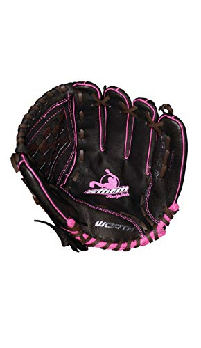 "Worth Storm STM110BRP 11"" Brown Youth Girls Fastpitch Softball Glove"