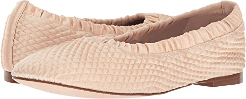 Stuart Weitzman Women's Quilty Ballet Flat, Blush Silk Satin, 9 Medium US