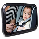 : Baby & Mom Back Seat Baby Mirror - Rear View Baby Car Seat Mirror Wide Convex Shatterproof Glass and Fully Assembled - Crash Tested and Certified for Safety