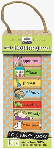 Green Start Book Towers: Little Learning Books: 10 Chunky Books Made from 98% Recycled Materials