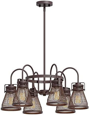 Inlight Rustic Industrial Chandelier 6 Light