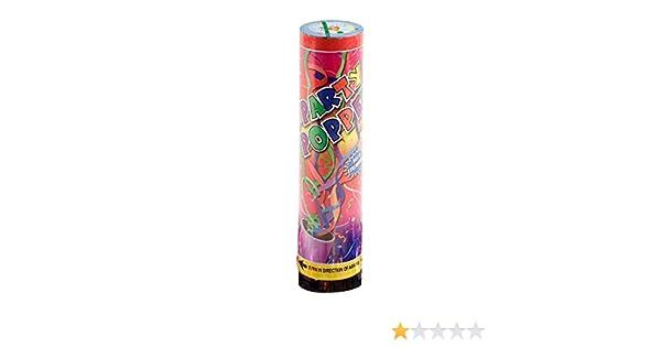 Mopec Cañón de serpentinas de Colores metálicos, Pack de 24 ...