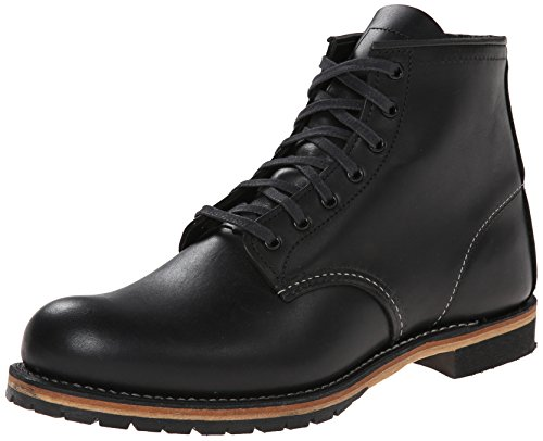 Leather Round Featherstone Wing Red Boots Beckman Mens 9014 Black xtARqXZ