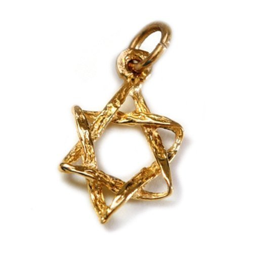 - Star of David Braided 14k Gold Pendant