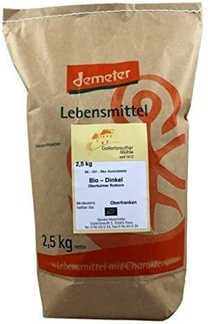 Bio de Espelta Demeter De Semillas de espelta 3 x 2,5 kg: Amazon ...